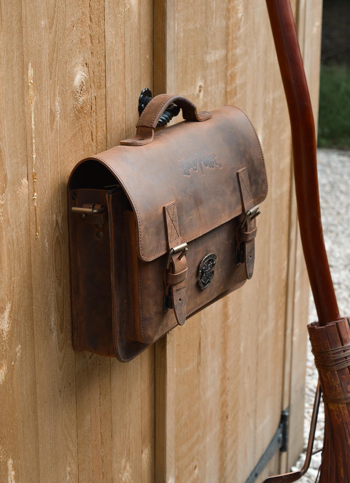 Harry Potter leather satchel.
